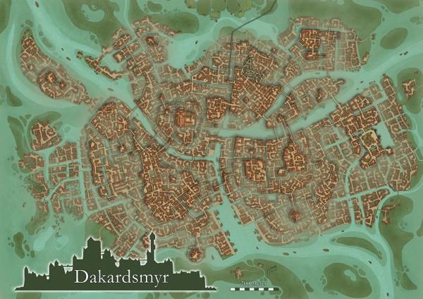 Dakardsmyr-Karten - A3-Poster