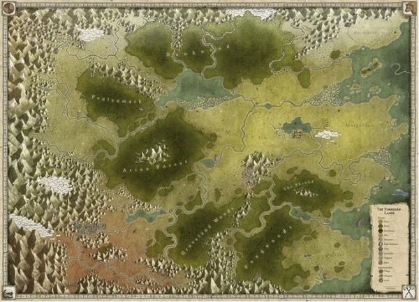 Die Verbotenen Lande - Zusätzliche Karte und Stickerbogen