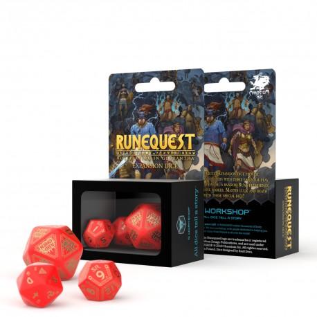 RuneQuest Red & gold Expansion-Würfelset