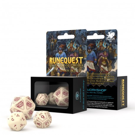 RuneQuest Beige & burgundy Expansion-Würfelset