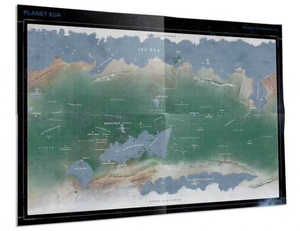 Coriolis: Karte von Kua und Deckplan der Omric-Klasse